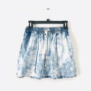Sparkle & Fade Acid Wash Skirt